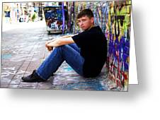 Art Alley Sit Down Greeting Card