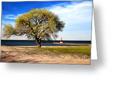 Art By The Lake Greeting Card