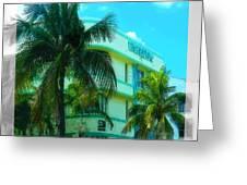 Art Deco Barbizon Hotel Miami Beach Greeting Card