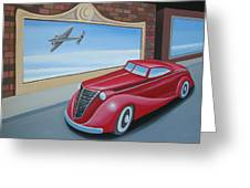 Art Deco Coupe Greeting Card