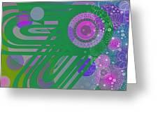 Art Deco Explosion 3 Greeting Card