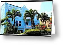 Art Deco Hotel In Miami Beach Greeting Card
