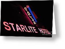 Starlite Hotel Art Deco District Miami 3 Greeting Card