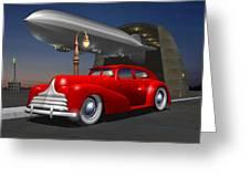 Art Deco Sedan Greeting Card