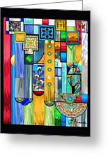 Art Deco Stained Glass 1 Greeting Card