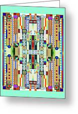 Art Deco Stained Glass 2 Greeting Card