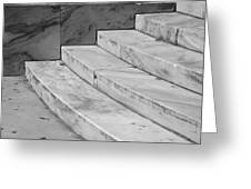 Art Deco Steps In Black And White Greeting Card