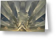 Art Deco Sunset Greeting Card