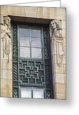 Art Deco Window Greeting Card