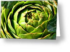 Art E. Choke - Artichokes By Diana Sainz Greeting Card