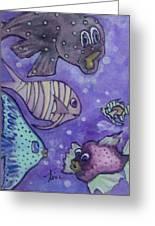 Fish Art Greeting Card