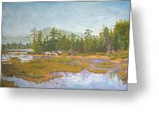 landscape print art for sale oil painting Serene Greeting Card