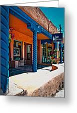 Art Gallery In Taos Greeting Card
