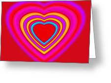 Art Heart Red Greeting Card