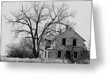 Art Homage Andrew Wyeth Abandoned 1930's Farm House Near Aberdeen South Dakota 1965-2012 Greeting Card