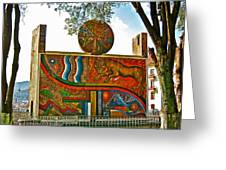 Art In A Cusco Park-peru  Greeting Card
