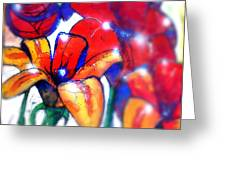 Art In The Eyes 3 Greeting Card