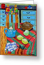 Art In The Kitchen Greeting Card