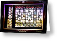 Art-nouveau Stained Glass Window Greeting Card
