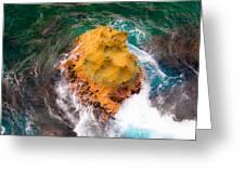 Art Of Rocks At Waianae Coast Greeting Card