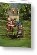 Art Of Teaching Oil Painting Greeting Card