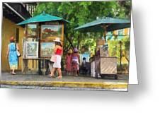 Art Show In San Juan Greeting Card