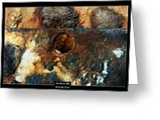 Art Work 206 Ship Rust Greeting Card