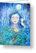 Artemis And The Wren- Greeting Card