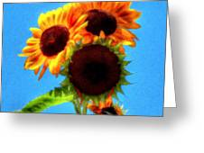Artful Sunflower Greeting Card