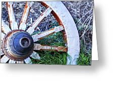 Artful Wagon Wheel Greeting Card