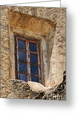 Artful Window At Mission San Jose In San Antonio Missions National Historical Park Greeting Card