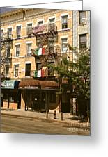 Arthur Avenue In The Bronx Greeting Card