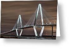 Arthur Ravenel Jr. Bridge Greeting Card by Brian Young