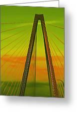 Arthur Ravenel Jr Bridge V Greeting Card