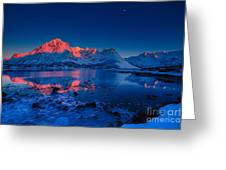 Artic Sunset Greeting Card by Francesco Ferrarini