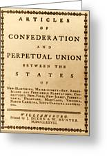 Articles Of Confederation, 1777 Greeting Card
