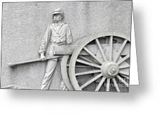 Artillery Detail On Monument Greeting Card