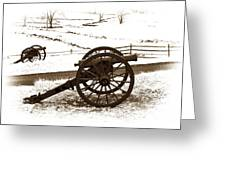 Artillery Positions - Toned Greeting Card