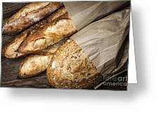 Artisan Bread Greeting Card by Elena Elisseeva