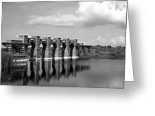 Artisan Lakes Bridge 1bw Greeting Card