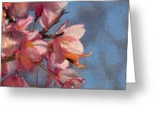 Artisic Painterly Cherry Blossoms Spring 2014 Greeting Card
