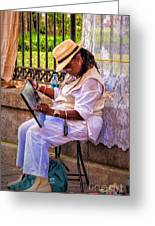 Artist At Work - Painting  Greeting Card