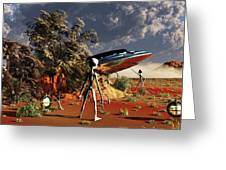 Artist Concept Of The Roswell Incident Greeting Card