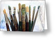 Artist Paintbrushes Greeting Card