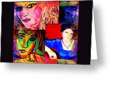 Artist Self Portrait Greeting Card