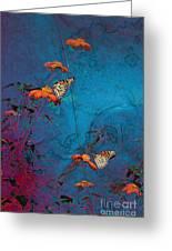 Artistic Butterflies Greeting Card