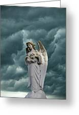 Artistic Creation Of Angel And Dark Greeting Card