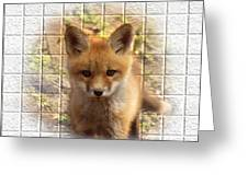 Artistic Cute Kit Fox Greeting Card