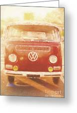 Artistic Digital Drawing Of A Vw Combie Campervan Greeting Card