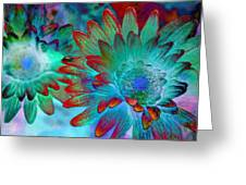 Artistic Flowers Greeting Card